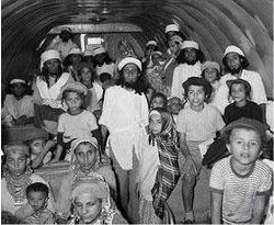 Yeminite Jews returning to Israel as part of Operation Magic Carpet in 1949