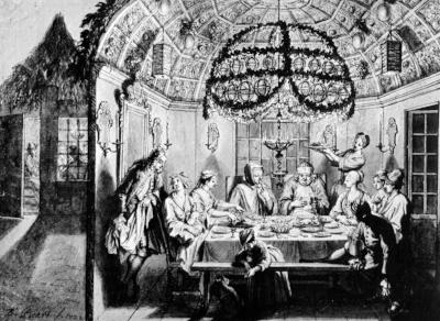 Sukkah_meal_Amsterdam_1922_Bernard_Picart_Wigoder_editor_Jewish Art Civilization_1972_p60-1.JPG