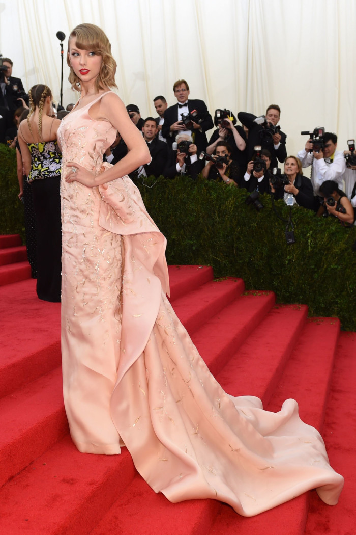 Image via Harpers Bazaar, Taylor Swift at the MET Gala