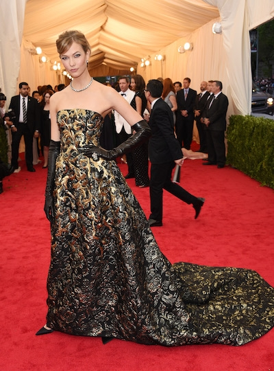 Image via Fashion Times, Karlie Kloss at the MET Gala