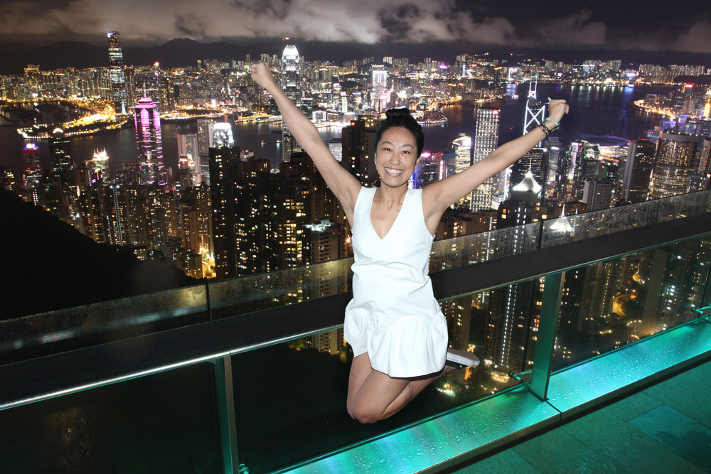 Nighttime VIctoria Peak views