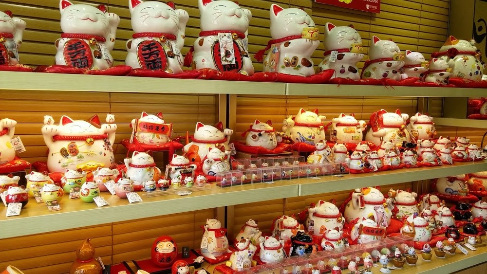 Lucky Cat shop in Ngong Ping Village