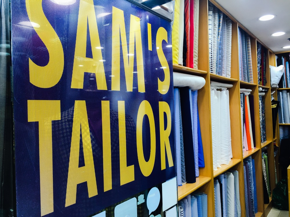 Sams Tailor , a must go to for custom mens and womens apparel, Tsim Sha Tsui, Kowloon