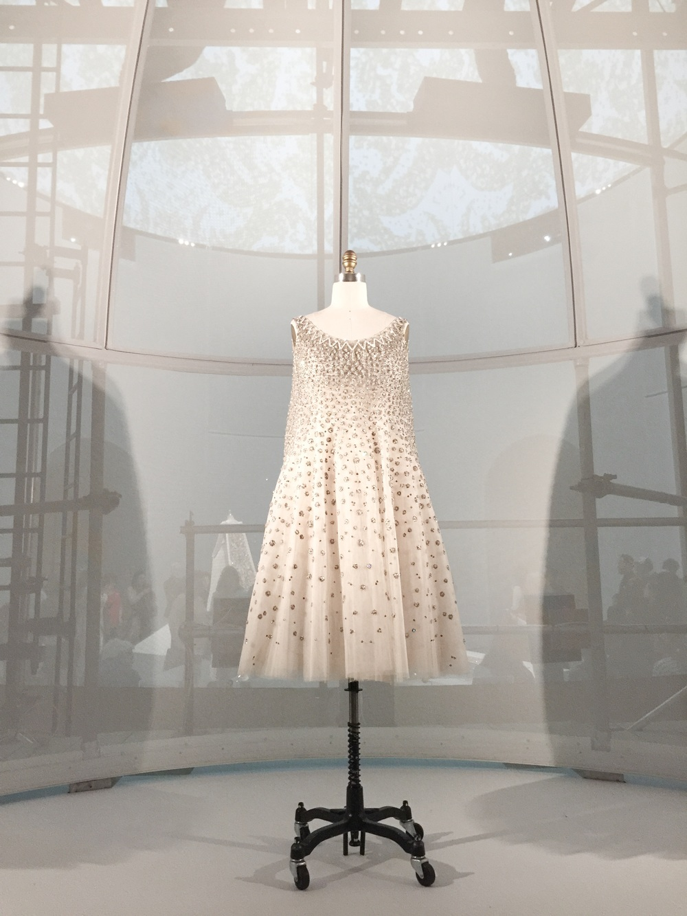 """House of Dior, """"L'Elephant Blanc"""" evening dress, Spring Summer 1958, haute couture"""