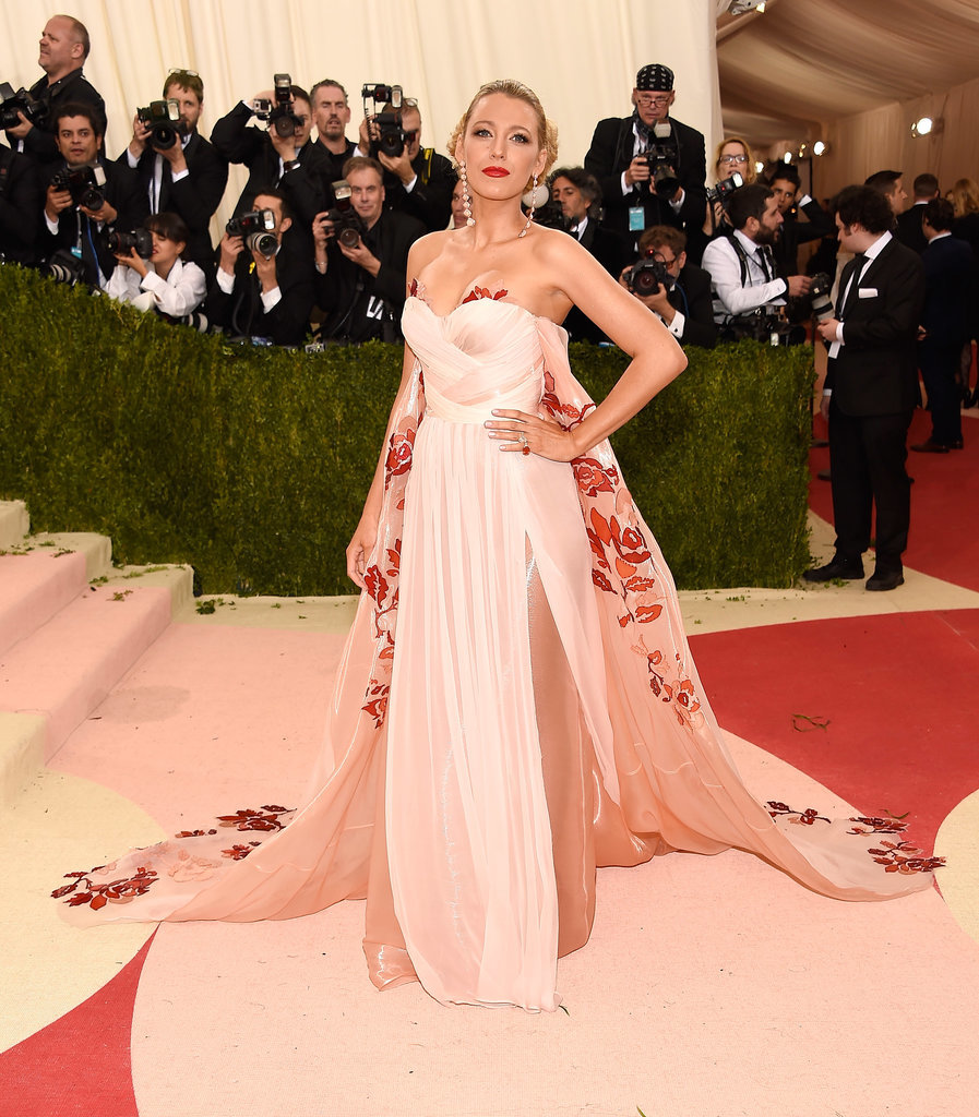 Blake Lively in Burberry , Image via Getty