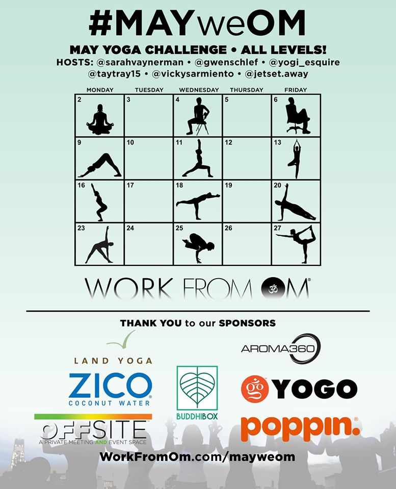 #MayWeOm Corporate Yoga Challenge official flyer