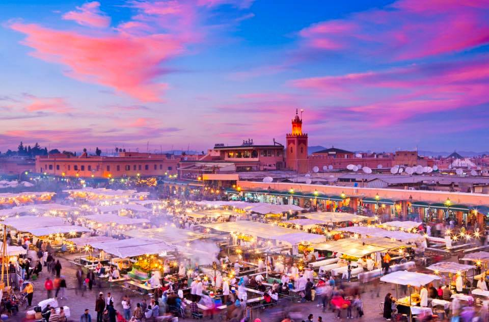 Jemaa el Fna in Marrakech, Morocco