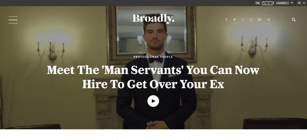 Meet The 'Man Servants' You Can Now Hire To Get Over Your Ex