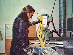 1995 - Ceramic-shell bronze casting at SSU.