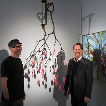 December 2018 - With Paul Mahder at Paul Mahder Gallery.