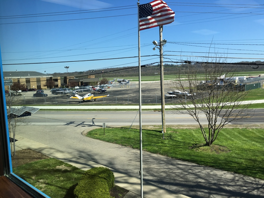This suite has one of the best views of Lunken Airport. Watch planes take off all day while you work!
