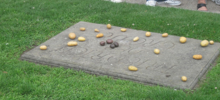 "To this day, people leave potatoes on Fred's grave. He was always ""on message"", and made a big production out of eating potatoes and smacking his lips enthusiastically at state dinners. Sometimes, when not fighting Austrians, he would visit towns and pass out potatoes. His endorsement worked, and potatoes became a staple crop in the nation."