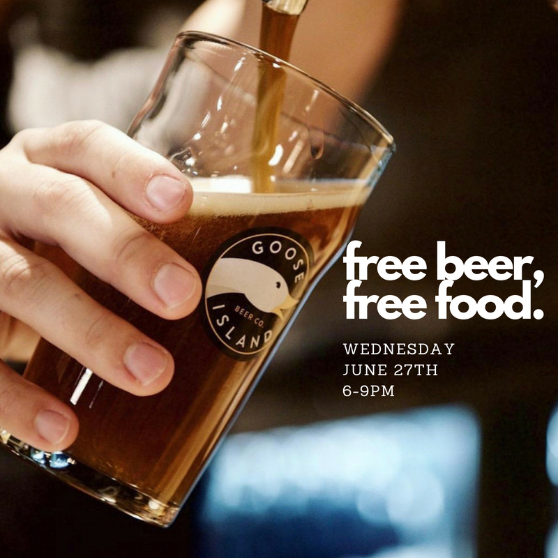 Well a little bit at least! Goose Island Beer Co will generously be providing some free tastings, so we will throw in some free canapes!