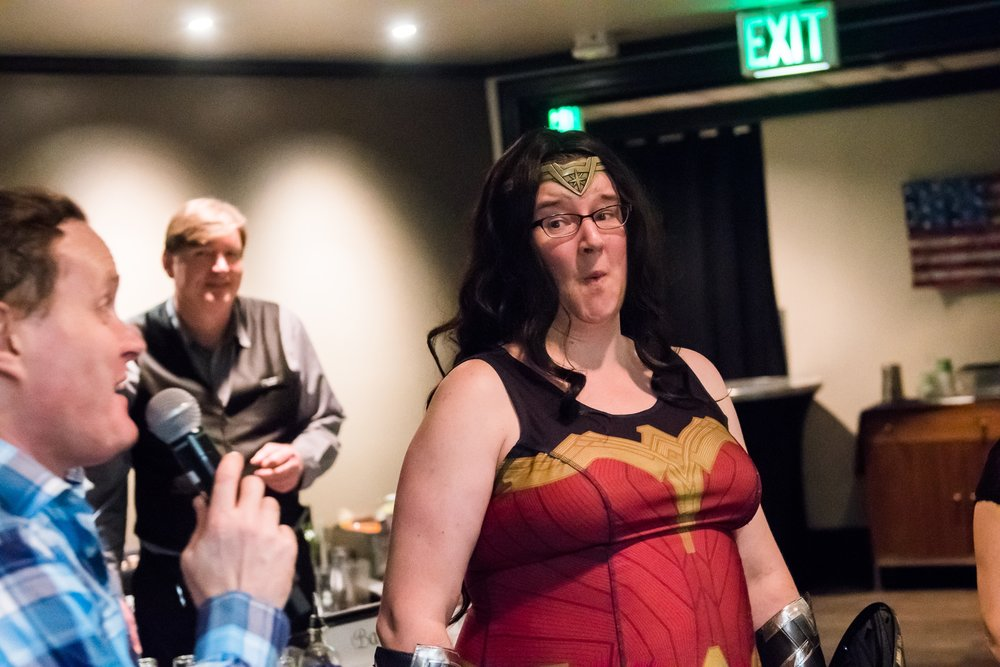 Wonderwoman graced us with her empowering presence at our last event!