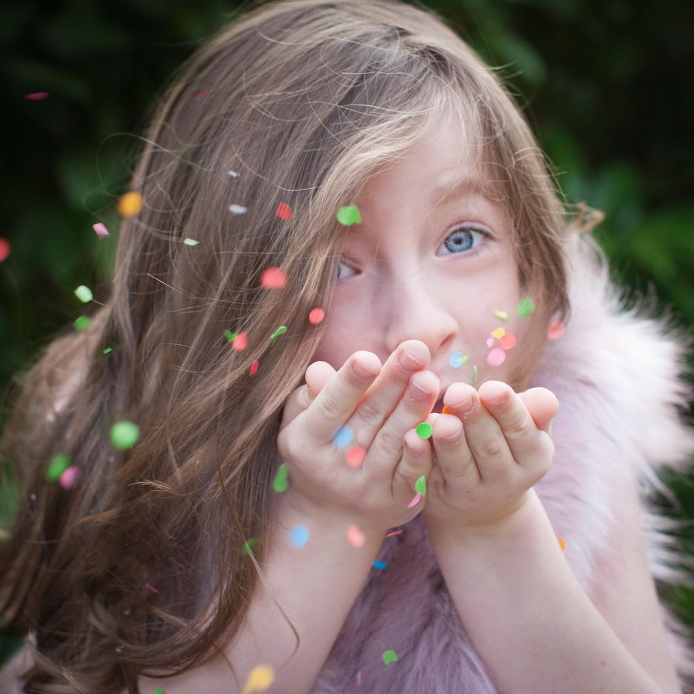 Confetti in children's photography