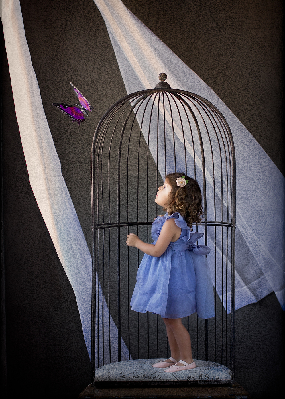 Sky 9 Studio Children's Editorial Photography - Butterfly