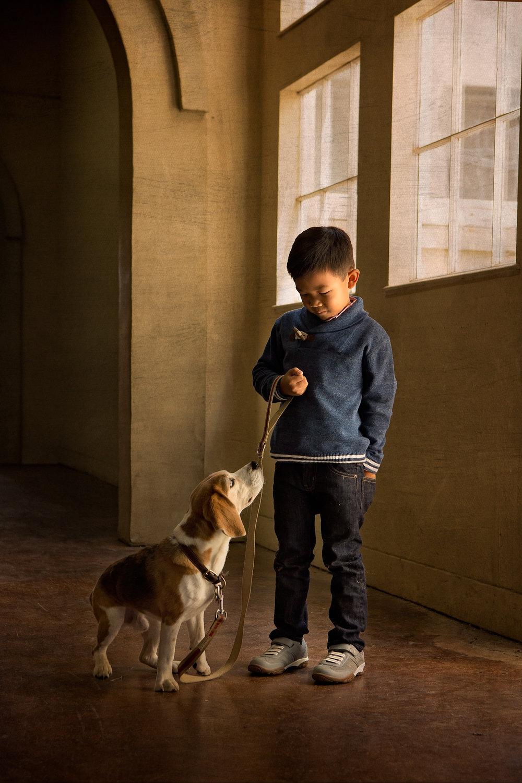 walnut-creek-family-photography-studio-boy-and-dog