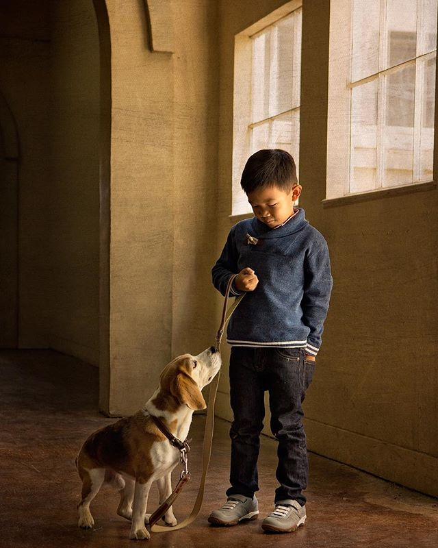 A boy and his dog. Instant classic.
