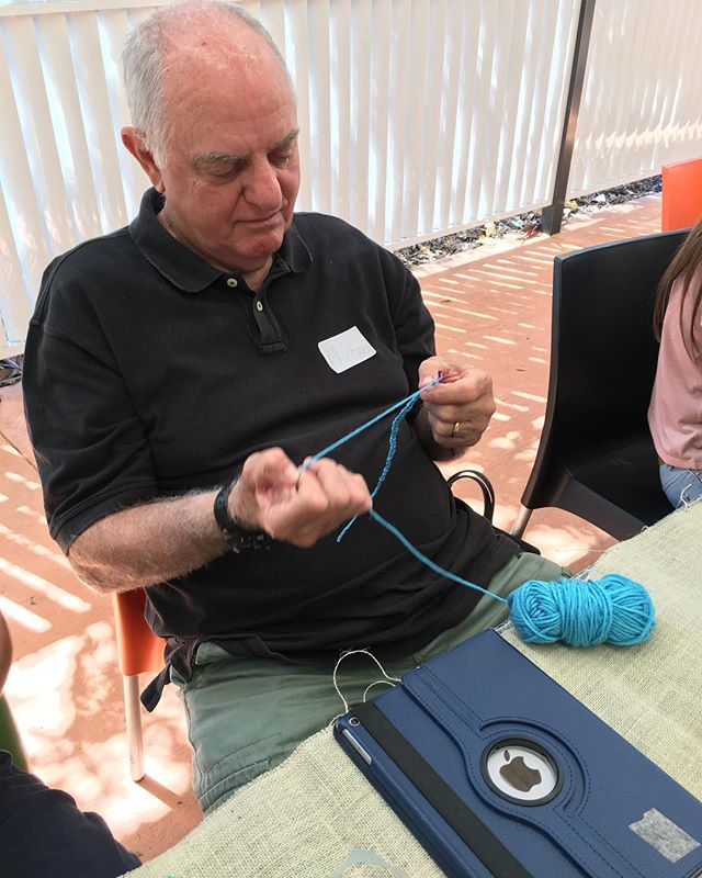 Michael working on his unconscious competence #menwhocrochet