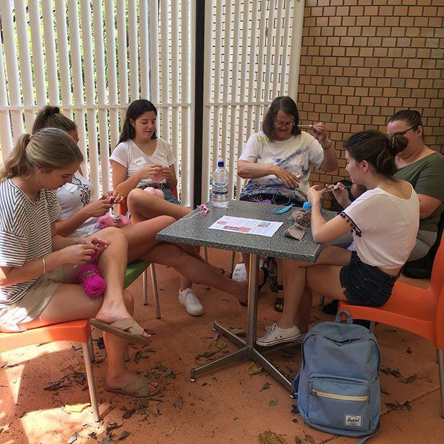 #genfriends working on their crochet skills today at #maroochydorelibrary #showusyaneedle #crochet #genxchange #sunshinecoast