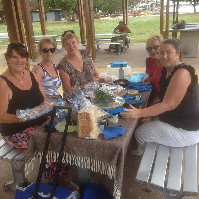 Our #sweatitout group enjoying an end of semester picnic in the park! #genxchange #sunshinecoast #welovepicnics #ijustcameforthefood #andthecompany
