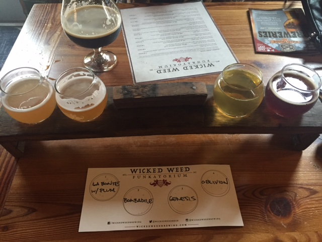 Flight at Wicked Weed Funkatorium.