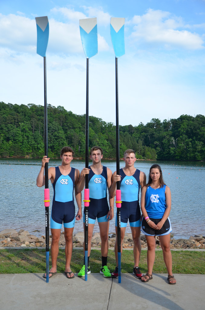 From Left: Elliot Shain, Chapin Nutter, Austin Fentress, Phoebe Castelblanco (cox)