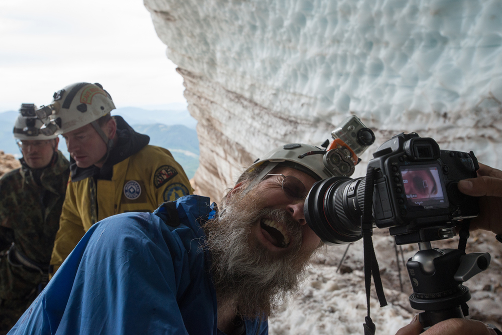 Brent McGregor (right) and Eddy Cartaya (middle), expedition leaders   and the driving force behind Glacier Cave Explorers;      View Eddy's   TED Talk for Youth