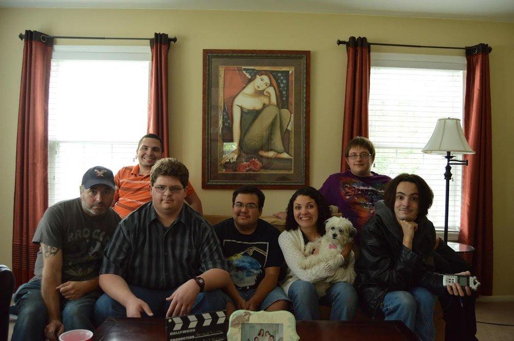 Dan Latham (Cinematographer), left; Zach Cajigas, top left; Mark Moland, second left; Roberto Espinosa, center; Zoe Cajigas, right; Alex Marshall (Camera Operator), top right; Greg Jacob Denuccio (Grip/Assistance), second right.