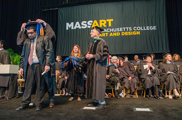 Fazli azeem Graduating with an MFA from MassArt in Boston. (2014)