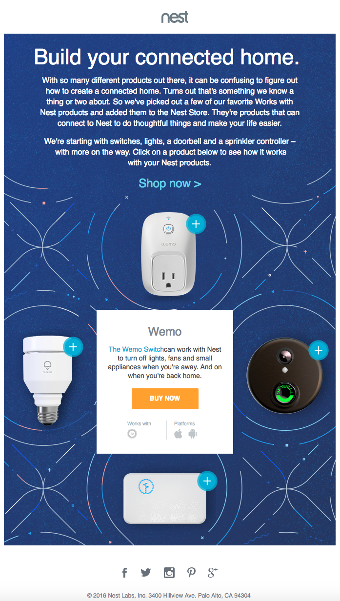 Nest: Hot spot email