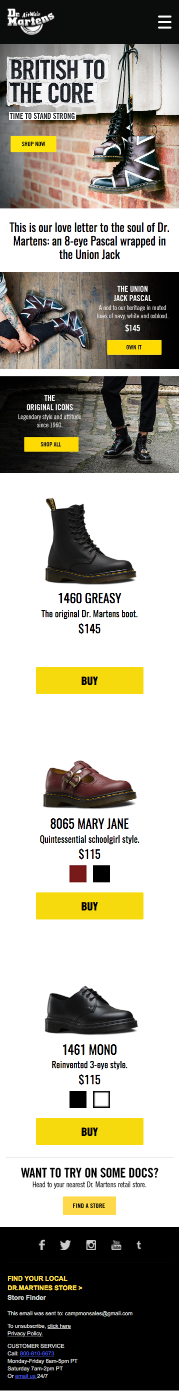 Dr Martens: Hamburger menu