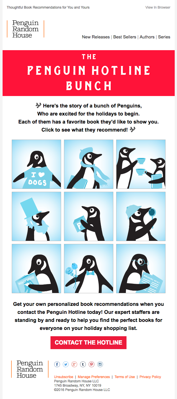 Penguin Random House: Rotational banners