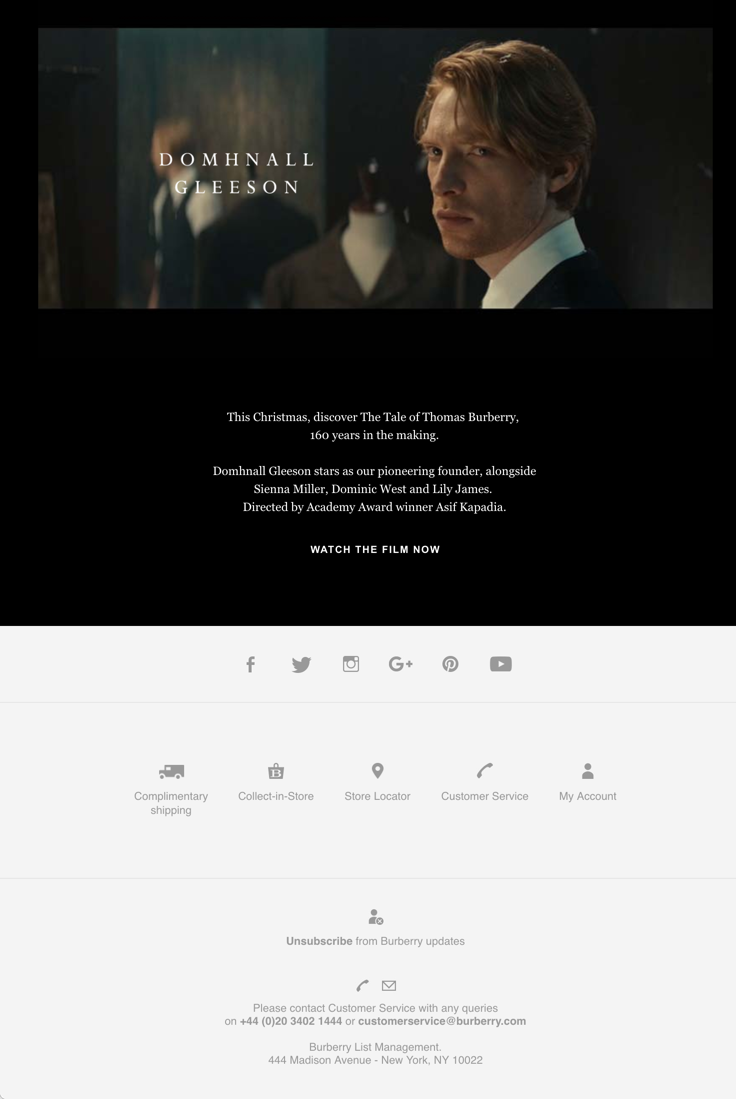 Burberry: Video in email