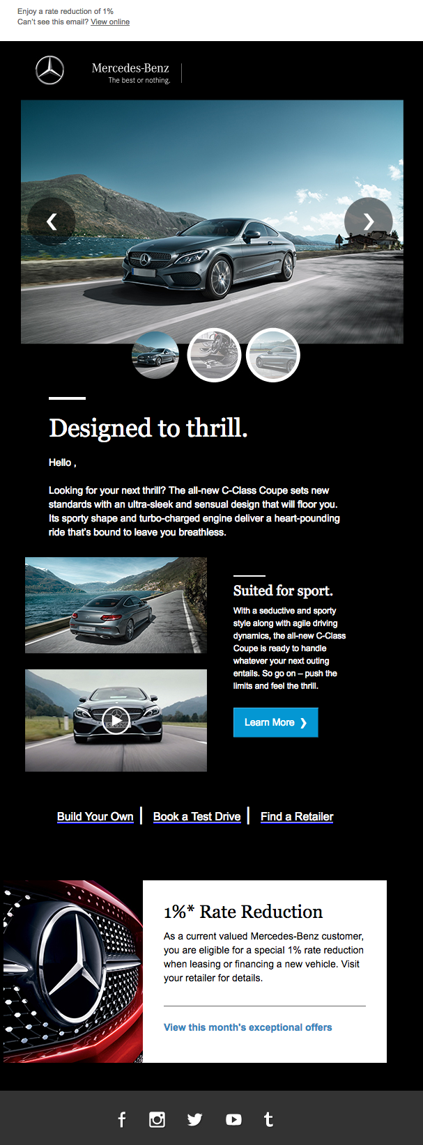 Mercedes: Carousel email
