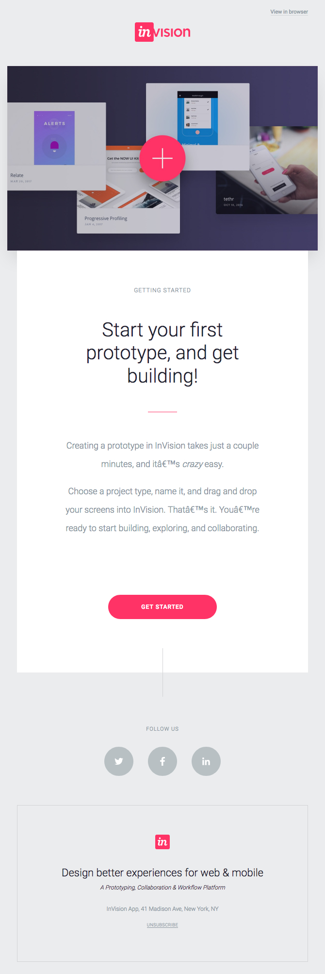 InVision Welcome Email