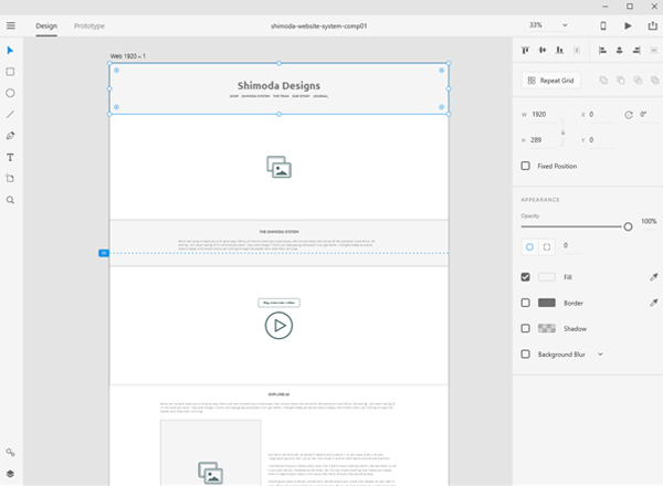 Wireframes - Once the sitemap and user journeys were defined, low-fidelity wireframes were created in Adobe XD, defining the general flow of the content, and the content was collected and edited.