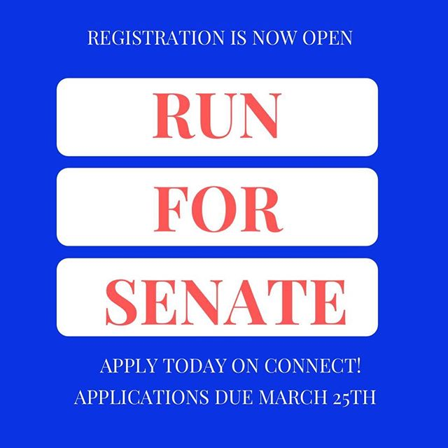Be sure to register!!! Check out Senate's page on Connect for the forms!