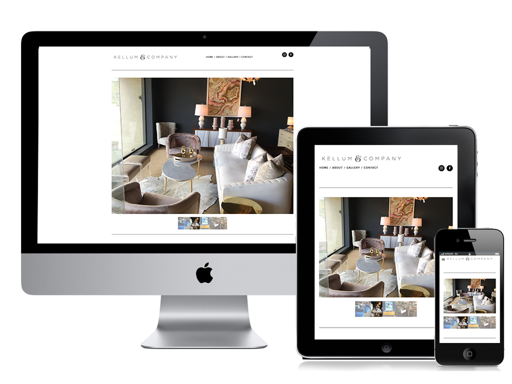 Get started with your new website. - Responsive web design optimized to work on all devices.
