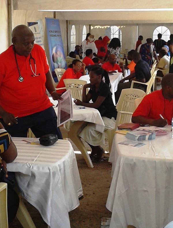 Health Fair activity - The health Fair focused on Prevention & Wellness