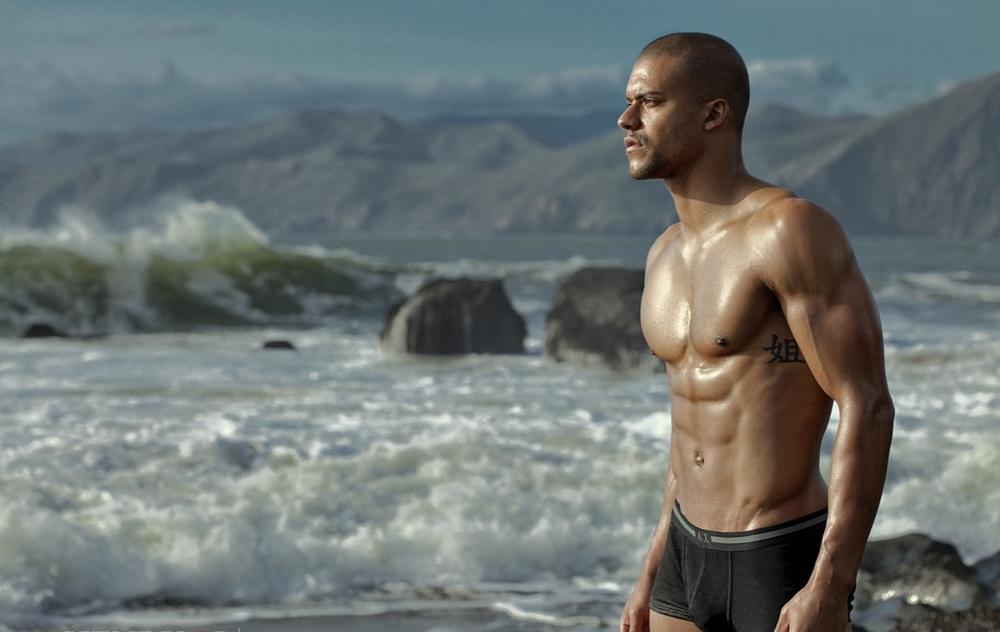 Muscle model beach