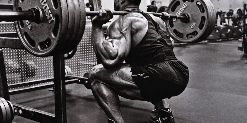 White and black heavy squat