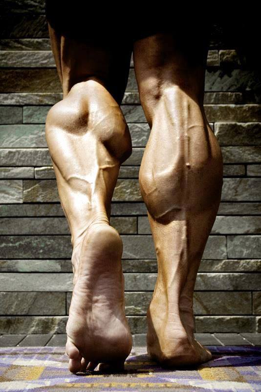 Calves-flexing
