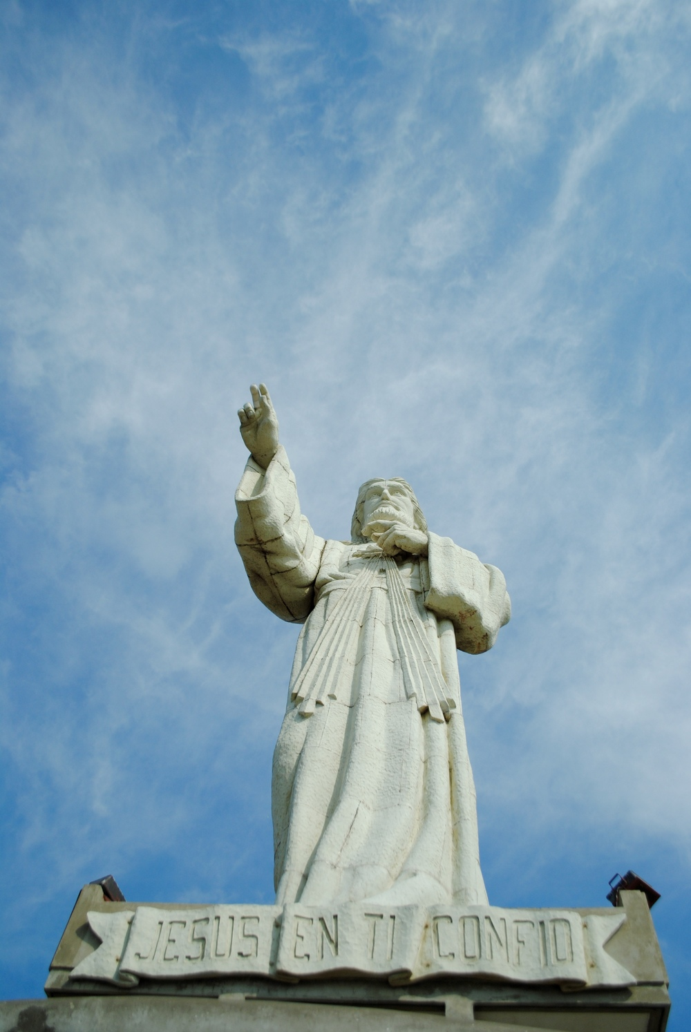 Christ of Mercy statute in San Juan del Sur