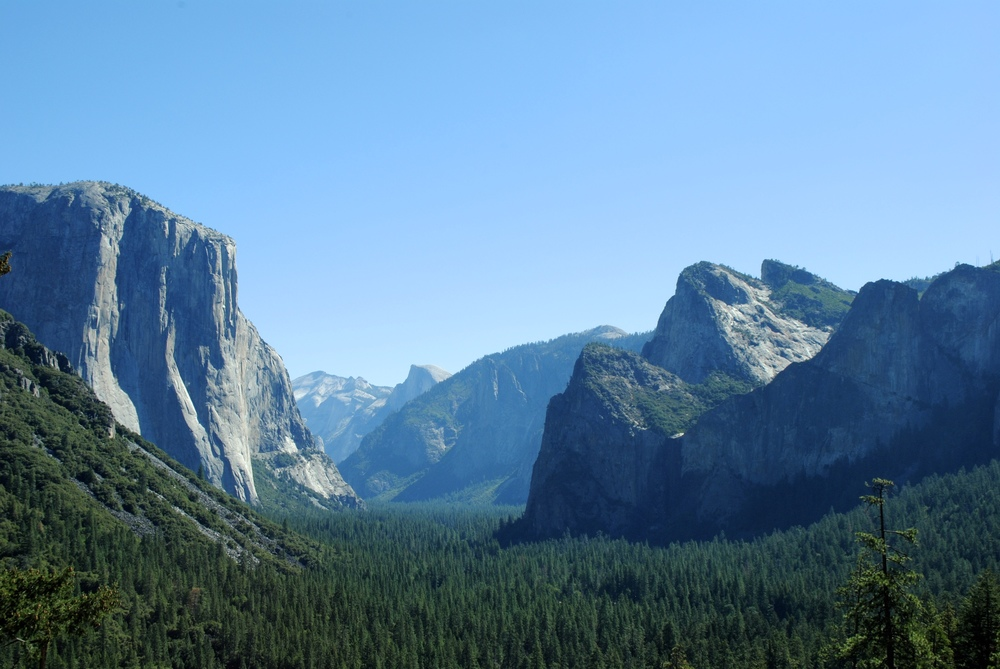 The very epic Tunnel View - no hiking required.