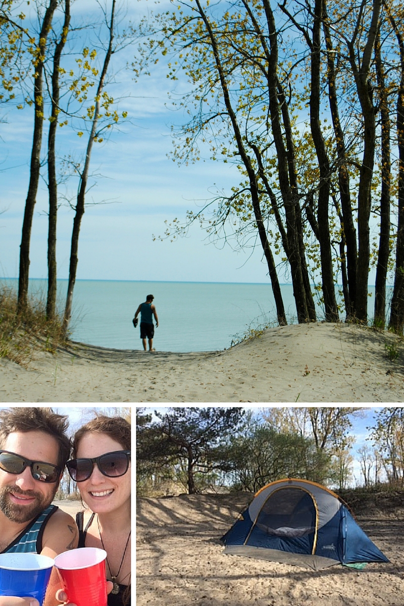 Camping in Long Point Provincial Park - sand, sun and good times!