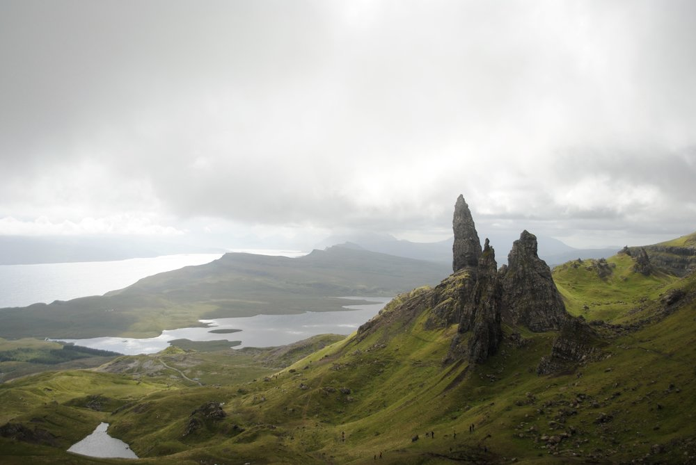 Old Man of Storr - you will get a better grasp of the sheer size and scale if you notice the ant size humans.