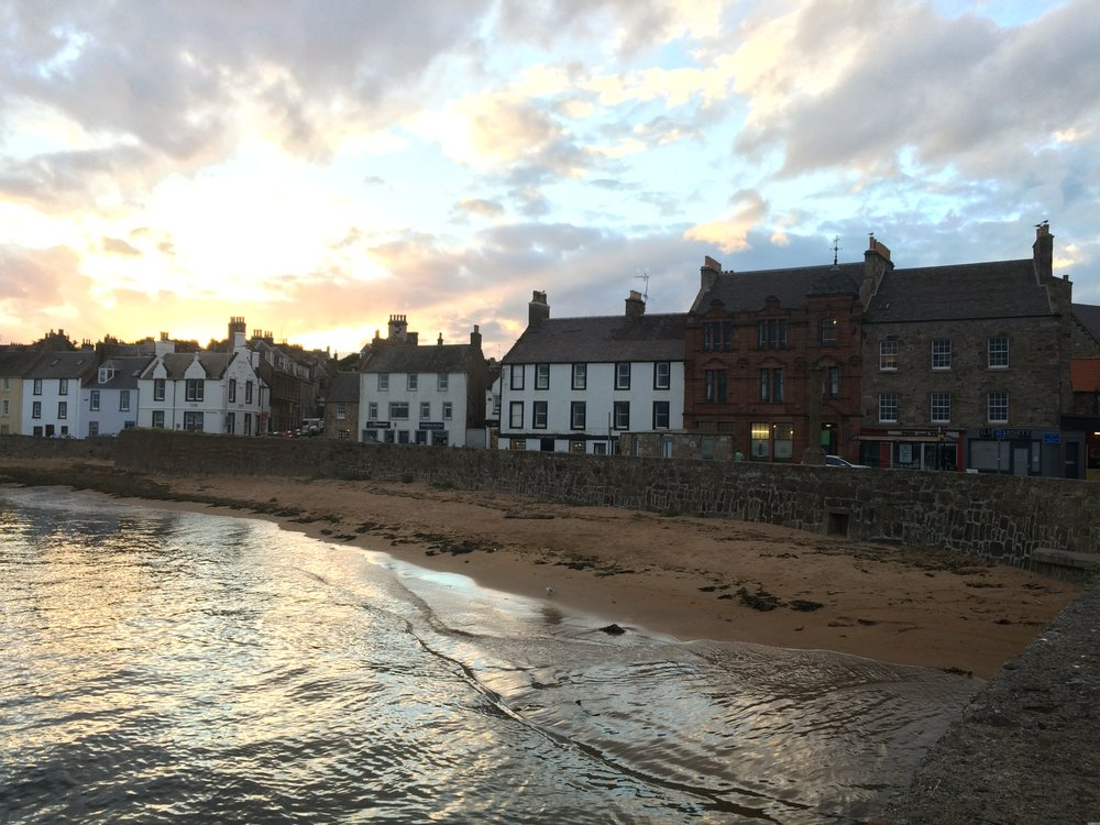 The fair fishing town of Anstruther - quiet town, with beautiful views and a decent sunrise too.