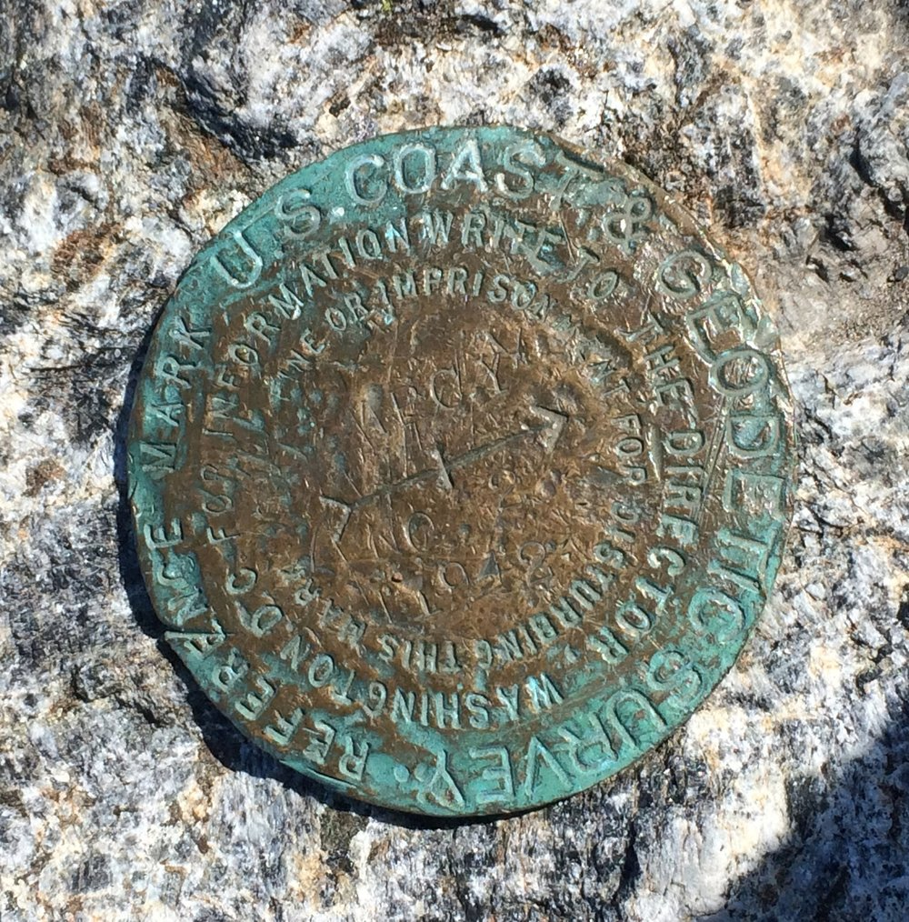 The highest point of Mount Marcy - you've always got to find one of these!