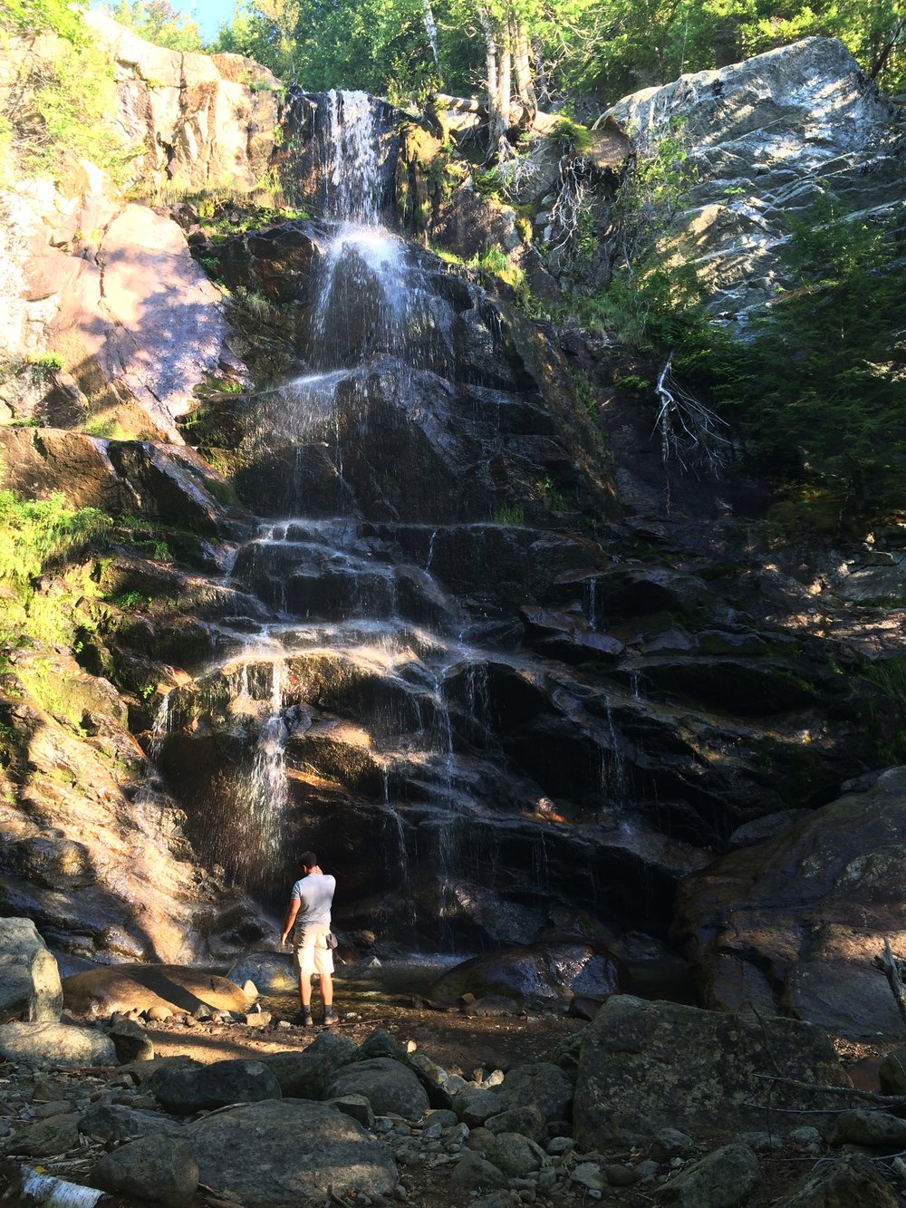 One of many rewards of the Gothics trail; a beautiful waterfall to refresh yourself.